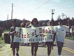 Photo - Students at Book March